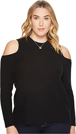 Lucky Brand - Plus Size Cold Shoulder Sweatshirt