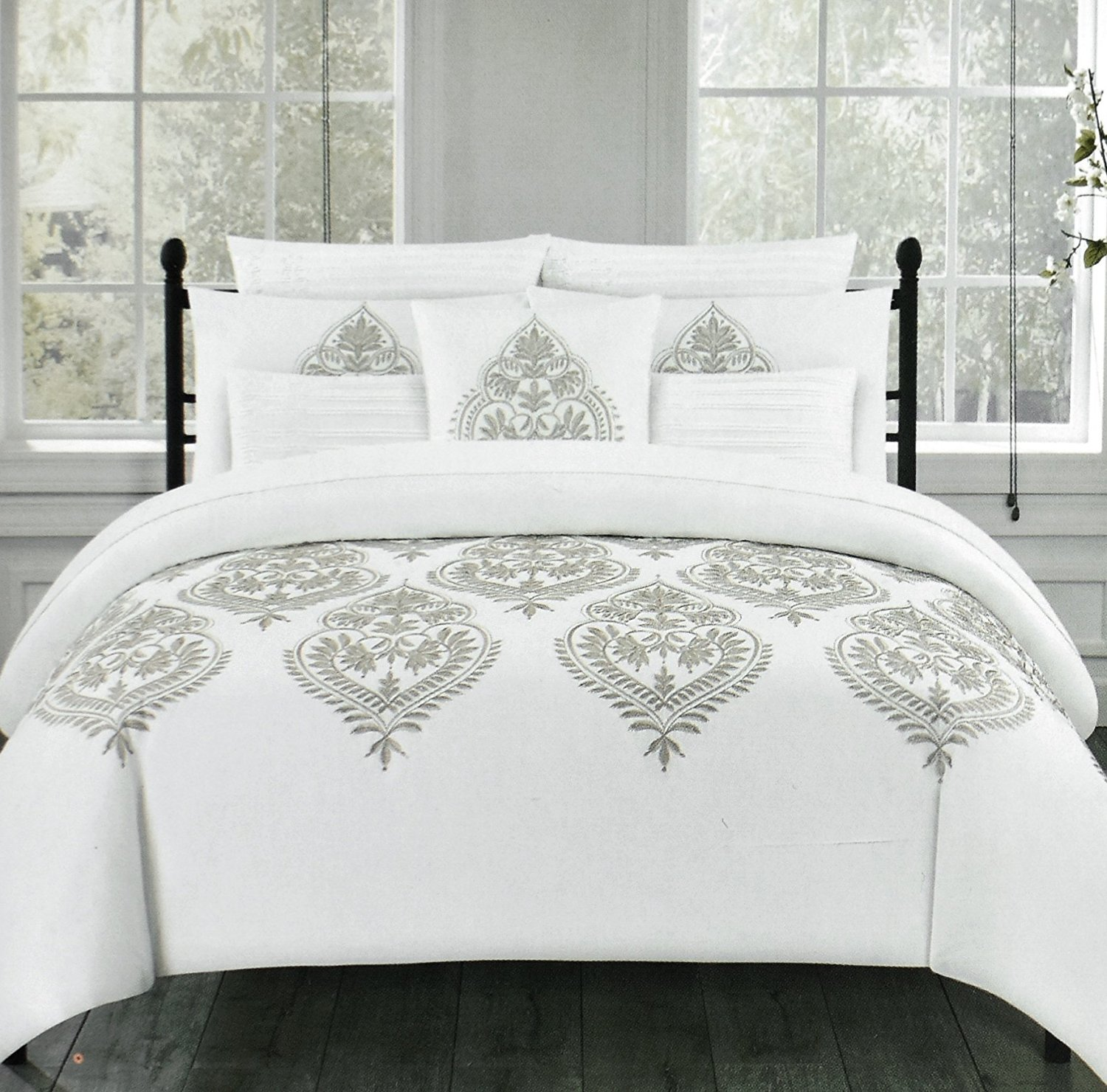 White Embroidered Duvet Cover Free Embroidery Patterns