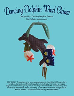 Dancing Dolphin Wind Chime: Plastic Canvas Pattern