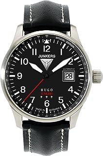 Junkers - 66502 - Reloj analógico automático para Hombre con Correa de Piel, Color Negro