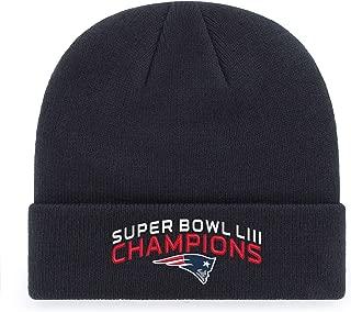 NFL Men's OTS NFL New England Patriots Super Bowl LIII Champions Cuff Knit