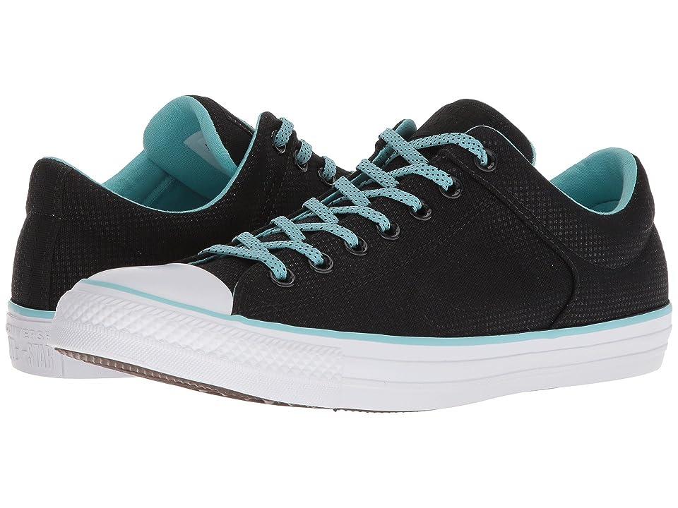 Converse Chuck Taylor(r) All Star(r) High Street Ox (Black/Bleached Aqua/White) Shoes