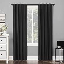 Sun Zero Cyrus Thermal 100% Blackout Back Tab Curtain Panel, 40