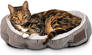 Simple Sleeper Self Warming Cute Calming Cat Bed with Ultra Soft Luxury Plush Including Refillable Catnip Pouch - Perfect ...