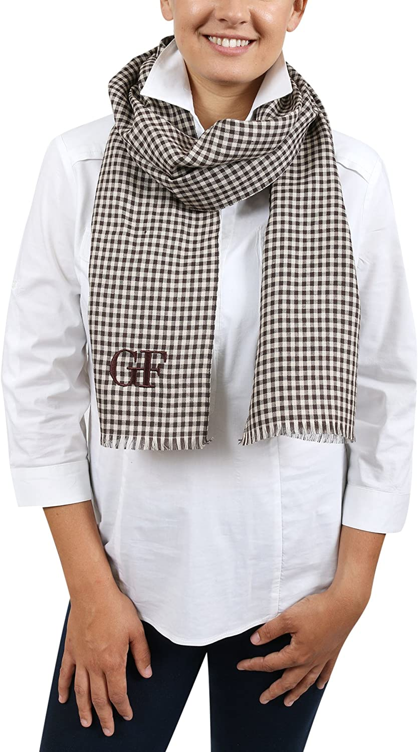 Gianfranco Ferre DU3C3308 2 Brown Checkered Scarf for womens
