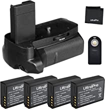 Battery Grip Bundle F/ Canon EOS Rebel T3, T5, T6: Includes Vertical Replacement Grip, 4-Pk LP-E10 Replacement Long-Life Batteries, UltraPro Accessory Bundle