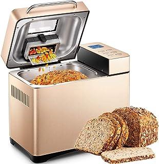 Yabano máquina de Pan de Acero Inoxidable, 19 programas, máquinas de Pan con Pantalla táctil de Alta sensibilidad, Tempori...