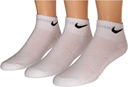 Cotton Cushion Quarter Length Socks w/ Moisture Management 3-Pair Pack (Little Kid/Big Kid)