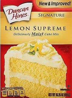 Duncan Hines Signature Cake Mix, Lemon Supreme, 15.25 Ounce
