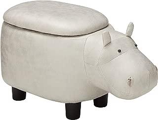 Merax Funfair Series Upholstered Ride-on Storage Ottoman Footrest Stool with Animal Shape