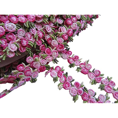 1 inch wide light pink small flower ribbon price for 2 yard