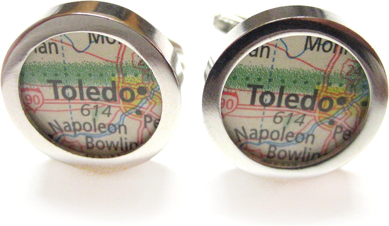 Toledo Ohio Map Cufflinks