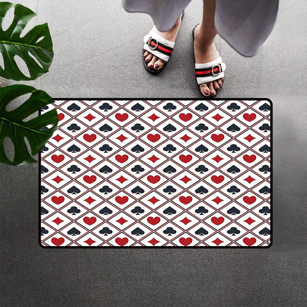 wholesale Bohogifts Casino Limited time trial price Floor Mat Holdem Diamons Spades Hearts Gambler