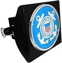 Elektroplate United States Coast Guard 1790 Anchor Black Plastic Hitch Cover