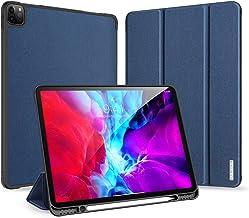 XINKOE Case For Apple ipad Pro 12.9(2020),Premium Quality PU Multifunctional design Leather Case Slim Flip Shell Case for Apple ipad Pro 12.9(2020)-Blue