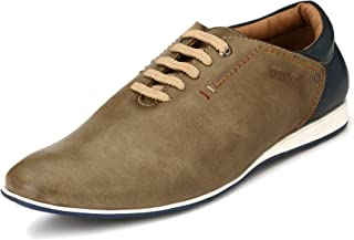 San Frissco Men's Brown Sneakers-10 UK/India (44 EU) (BB-003-Tan-10)