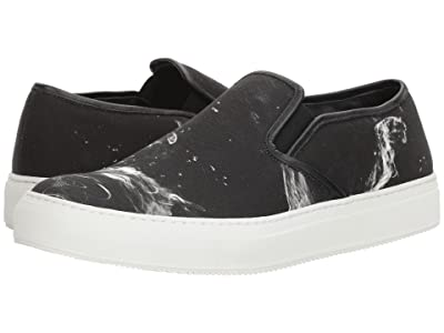 Neil Barrett Liquid Ink Slip-On Sneaker (Black/White) Men