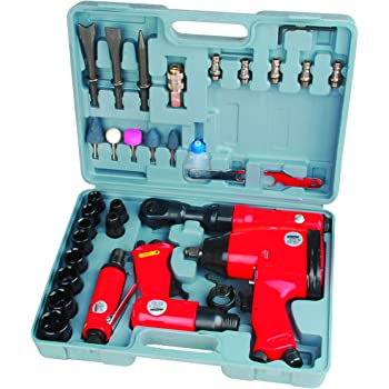 Mannesmann - M15033 - Juego de herramientas neumáticas, 33 piezas: Amazon.es: Bricolaje y herramientas