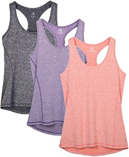 581f42c04c1b03 icyzone Activewear Running Workouts Clothes Yoga Racerback Tank Tops for  Women