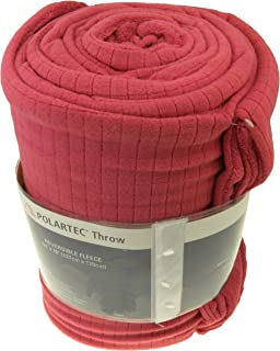 Polartec Softec Reversible Fleece Throw Blanket by Berkshire, Berry