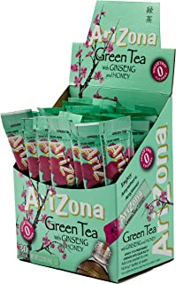 AriZona Green Tea with Ginseng Iced Tea Stix Sugar Free, 30 Count Box (Pack of 1), Low Calorie Single Serving Drink Powder...