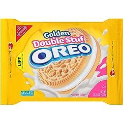 Oreo Golden Double Stuf Sandwich Cookies, 15.25 Ounce