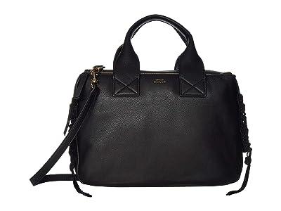 Vince Camuto Jayde Satchel (Black) Handbags
