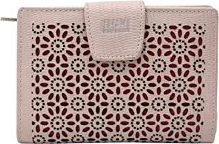 Le Craf Pink Genuine Leather Wallet Purse for Women and Girls