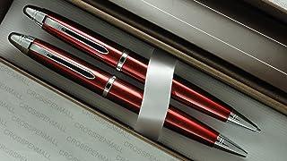 مجموعة أقلام وأقلام الرصاص الحمراء اللامعة من كروس ميامي مع مواعيد كروم