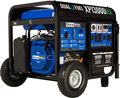 lowest DuroMax XP13000HX Dual Fuel Portable discount Generator-13000 Watt Gas or outlet sale Propane Powered Electric Start w/CO Alert, 50 State Approved, Blue outlet online sale
