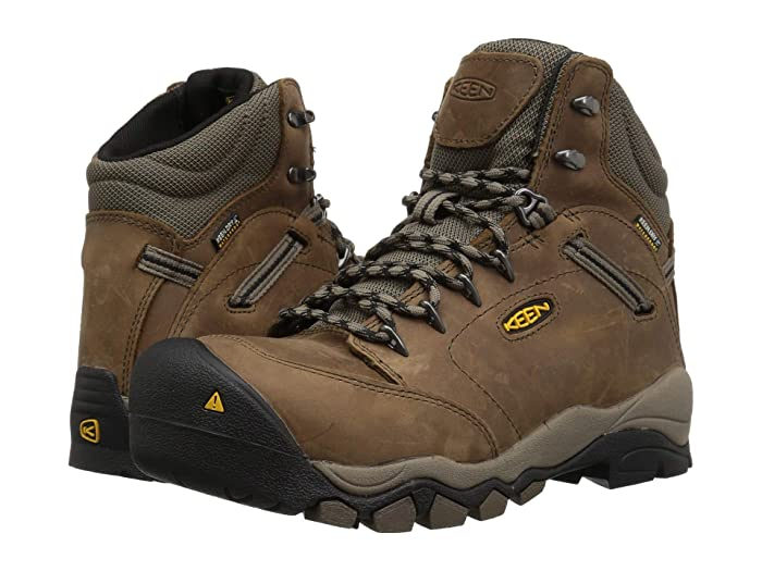 Keen Utility  Canby AT Waterproof (Shitake/Brindle) Womens Work Pull-on Boots