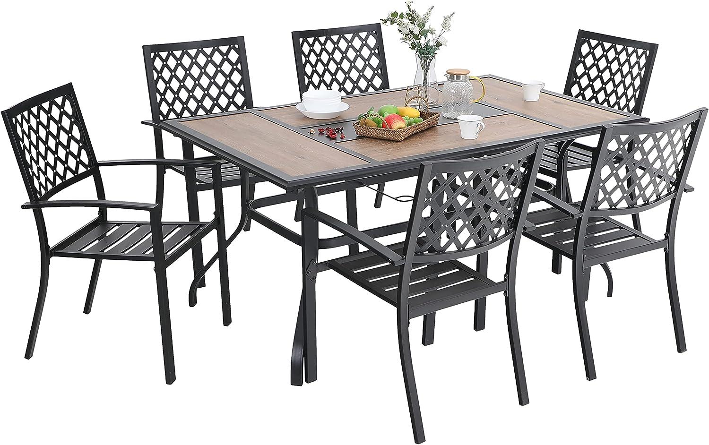 Buy PHI VILLA Patio Dining Set 10 Pieces Metal Outdoor Furniture ...