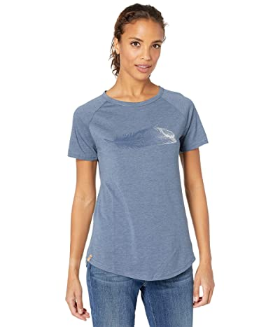 tentree Feather Wave Short Sleeve Tee (Spruce Blue Heather) Women