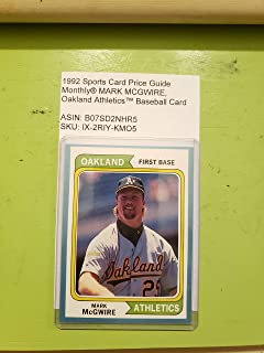1992 Sports Card Price Guide Monthly® MARK MCGWIRE, Oakland Athletics™ Baseball Card
