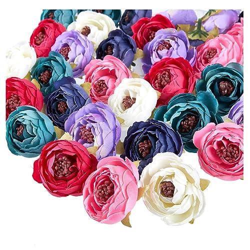 "1 Victorian Artificial Silk Flower 4/"" x 7/""  Head Hair Clip Craft"