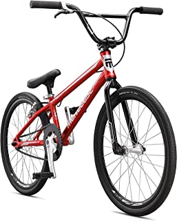 Mongoose Title Expert BMX Race Bike with 20-Inch Wheels in Red for Beginner Riders, Featuring Lightweight Tectonic T1 Aluminum Frame and Internal Cable Routing