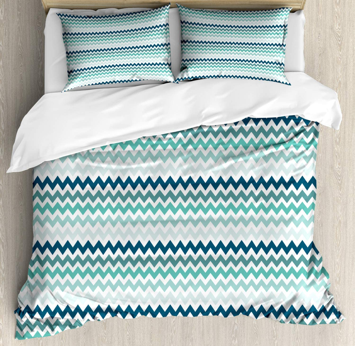 SEAL limited product Alandar Home Bedding Sets Duvet Oklahoma City Mall Cover Pieces 3 So Chevron Ultra