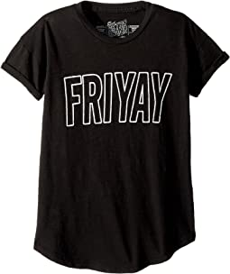 Friyay Slub Cotton T-Shirt w/ Rolled Short Sleeve (Big Kids)