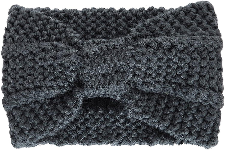 Lisli Women Winter Chunky Cable Knit Turban Headband Hairband Ski Hat Ear Warmer Head Wrap (#1 Gray)