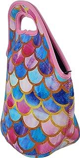 Mermaid Gifts Lunch Bags for Girls - Insulated Neoprene Tote Bag -Cute Bag/Gift for Kids, Women, Girls, Pink, Aqua, Mini