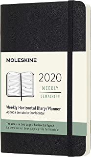 Moleskine Classic 12 Month 2020 Weekly Planner, Soft Cover, Pocket (3.5