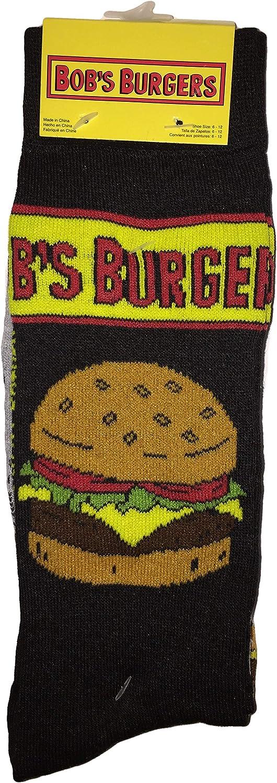 HYP - Bob's Burgers Crews Sock - 2 pair pack - Size 6-12