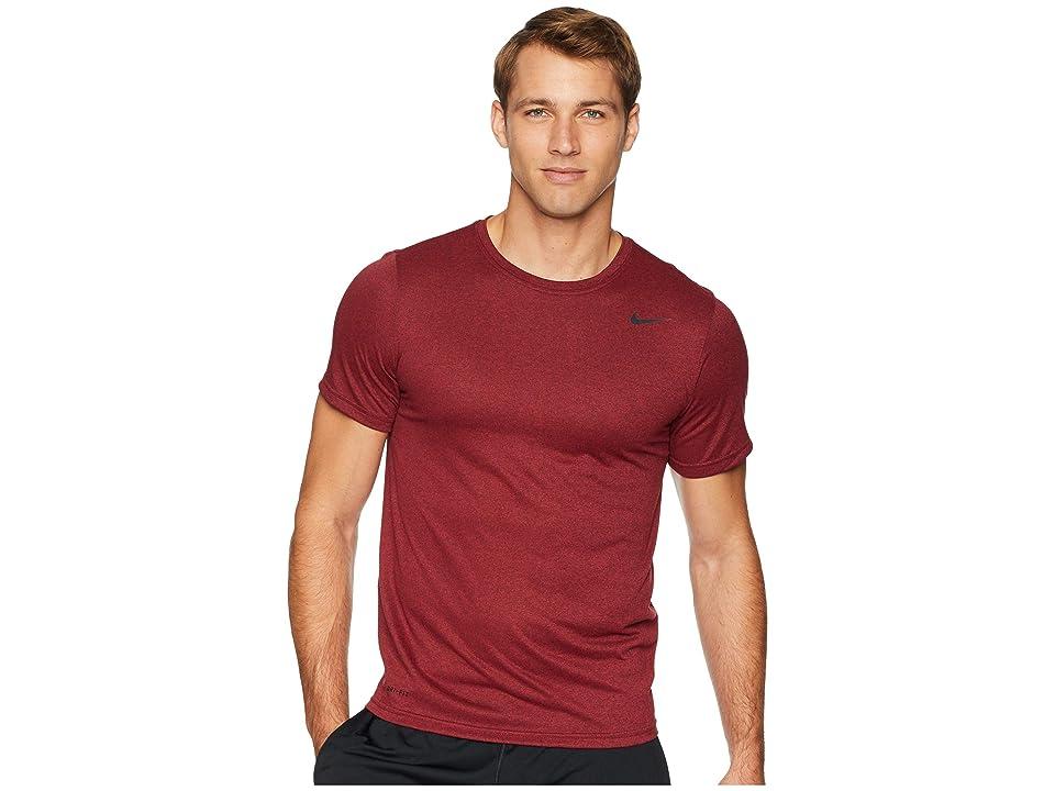 Nike Legend 2.0 Short Sleeve Tee (Burgundy Crush/Red Crush) Men