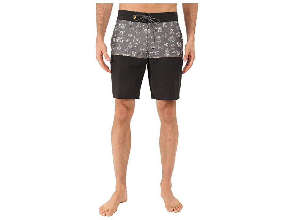 Vans Middles Boardshorts (Black (Captain Fin Co.)) Men