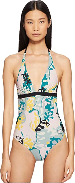 Sea Print One-Piece