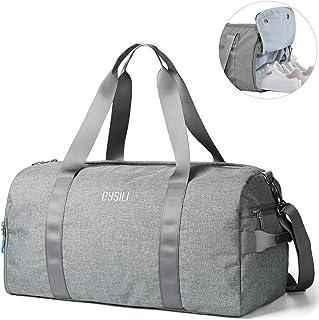 CoCoMall Turnbeutel mit Schuhfach und Nasstasche, Sporttasche für Damen und Herren, Reisetasche mit Schultergurt