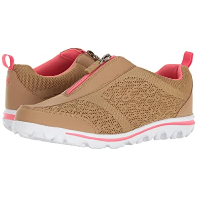Propet TravelActiv Zip (Honey/Coral) Women
