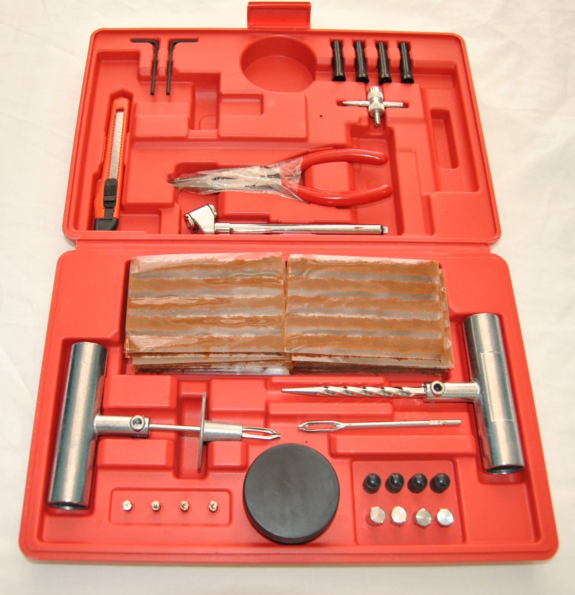 ProSpark Kit Profesional de 87 PCS para Reparar PINCHAZOS Ruedas ...