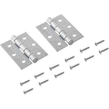 2 pack National Hardware N208-835 V504 Removable Pin Broad Hinges in Galvanized