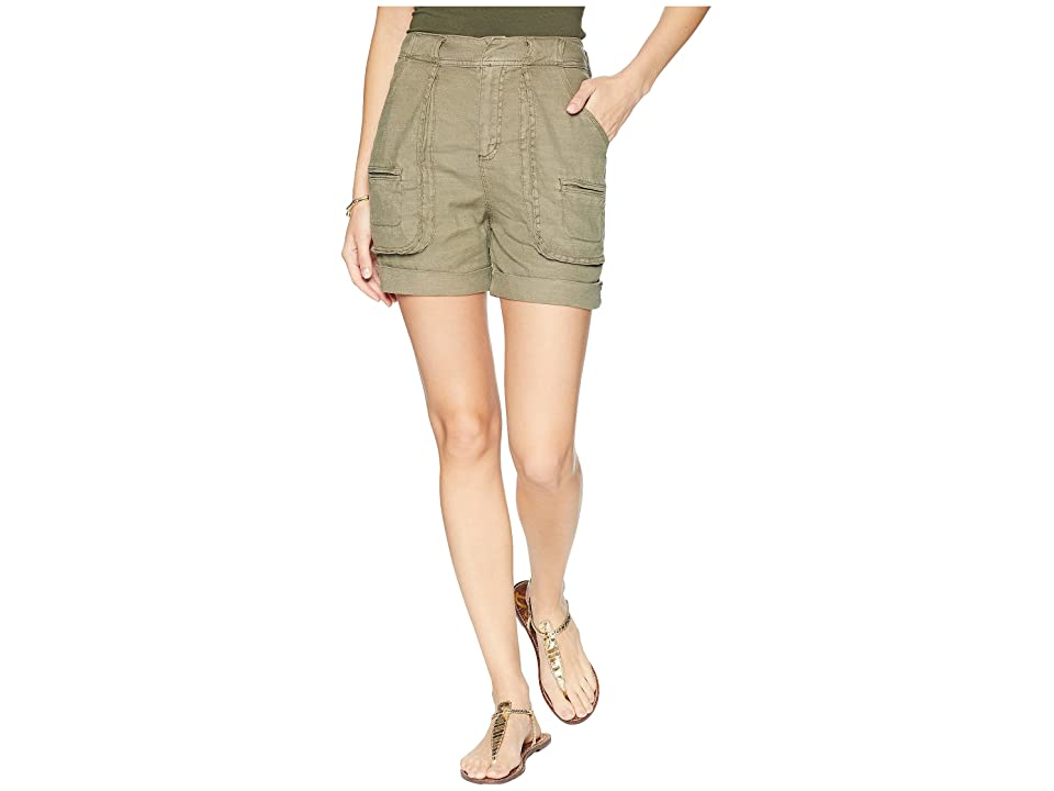Splendid Linen Slub Cargo Short (Antique Military Olive) Women's Shorts